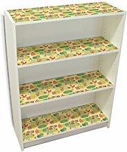 YOURDEA - Aufkleber Kinderzimmer Möbel IKEA Billy Regal Böden 100x80cm mit Motiv: Gartenarbei