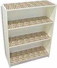 YOURDEA - Aufkleber Kinderzimmer Möbel IKEA Billy Regal Böden 100x80cm mit Motiv: Helferlein inklusive Rakel SET