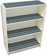 YOURDEA - Aufkleber Möbel IKEA Billy Regal Böden 100x80cm Möbelaufkleber mit Motiv: Fächer Tiefblau inklusive Rakel