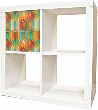 YOURDEA - Aufkleber Möbel Sticker für IKEA Expedit / Kallax Kommode Regal mit Motiv Rauten Unscharf