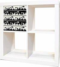 YOURDEA - IKEA KALLAX / Expedit Regal Möbelaufkleber mit Motiv Regenwetter