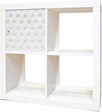 YOURDEA - IKEA KALLAX / Expedit Regal Möbelaufkleber mit Motiv Weißes Polster