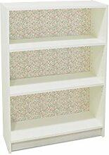 YOURDEA - Kinderzimmer Möbel Klebefolie für IKEA Billy Regal 100x80cm mit Motiv: Rosa Rose