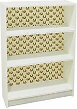 YOURDEA - Kinderzimmer Möbel Klebefolie für IKEA Billy Regal 100x80cm mit Motiv: Müder Fuchs inklusive Rakel