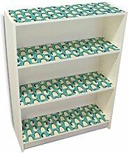 YOURDEA - Kinderzimmer Möbel Klebefolie IKEA Billy Regal Böden 100x80cm mit Motiv: Königspinguine inklusive Rakel
