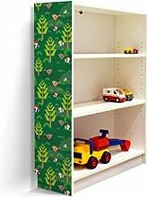 YOURDEA - Klebefolie Kinderzimmer Möbel IKEA Billy Regal 100x80cm mit Motiv: Grüner Wald für die linke Seitenwand