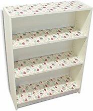 YOURDEA - Klebefolie Kinderzimmer Möbel IKEA Billy Regal Böden 100x80cm mit Motiv: Vier Wale