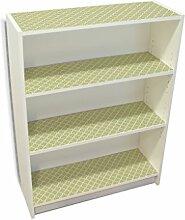 YOURDEA - Klebefolie Kinderzimmer Möbel IKEA Billy Regal Böden 100x80cm mit Motiv: Grüne Karos inklusive Rakel SET