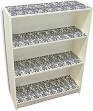 YOURDEA - Klebefolie Kinderzimmer Möbel IKEA Billy Regal Böden 100x80cm mit Motiv: Ethnophant inklusive Rakel