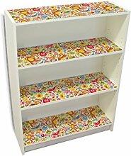 YOURDEA - Klebefolie Kinderzimmer Möbel IKEA Billy Regal Böden 100x80cm mit Motiv: Früchtchen inklusive Rakel