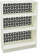 YOURDEA - Klebefolie Möbel IKEA Billy Regal 100x80cm mit Motiv: Vierblatt inklusive Rakel