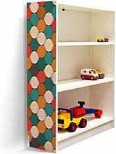 YOURDEA - Klebefolie Möbel IKEA Billy Regal 100x80cm mit Motiv: Zwiebelmuster für die linke Seitenwand