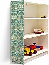 YOURDEA - Klebefolie Möbel IKEA Billy Regal 100x80cm mit Motiv: Orient Ornament für die linke Seitenwand