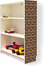 YOURDEA - Klebefolie Möbel IKEA Billy Regal 100x80cm mit Motiv: Glieder für die rechte Seitenwand