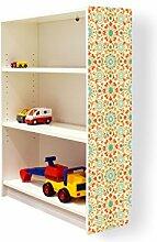 YOURDEA - Klebefolie Möbel IKEA Billy Regal 100x80cm mit Motiv: Feuerwerk für die rechte Seitenwand