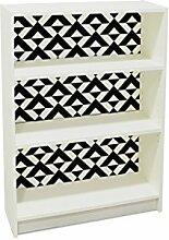 YOURDEA - Klebefolie Möbel IKEA Billy Regal 100x80cm mit Motiv: Winkel inklusive Rakel SET