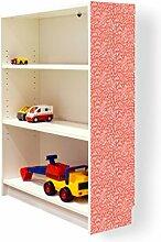 YOURDEA - Klebefolie Möbel IKEA Billy Regal 100x80cm mit Motiv: Kerben Muster für die rechte Seitenwand