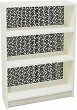 YOURDEA - Klebefolie Möbel IKEA Billy Regal 100x80cm mit Motiv: Drei Viertel