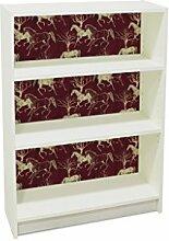 YOURDEA - Klebefolie Möbel IKEA Billy Regal 100x80cm mit Motiv: Pferd Variation