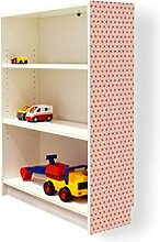 YOURDEA - Klebefolie Möbel IKEA Billy Regal 100x80cm mit Motiv: Sterne Muster für die rechte Seitenwand