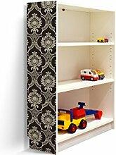 YOURDEA - Klebefolie Möbel IKEA Billy Regal 100x80cm mit Motiv: Bombay für die linke Seitenwand