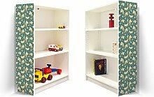 YOURDEA - Klebefolie Möbel IKEA Billy Regal 100x80cm mit Motiv: Wilder Fisch für beide Seitenwände