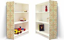 YOURDEA - Klebefolie Möbel IKEA Billy Regal 100x80cm mit Motiv: Feuerwerk für beide Seitenwände