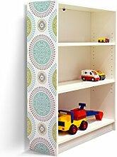 YOURDEA - Klebefolie Möbel IKEA Billy Regal 100x80cm mit Motiv: Medaillons für die linke Seitenwand
