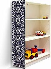 YOURDEA - Klebefolie Möbel IKEA Billy Regal 100x80cm mit Motiv: Ranke mit Vogel für die linke Seitenwand