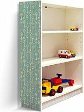YOURDEA - Klebefolie Möbel IKEA Billy Regal 100x80cm mit Motiv: Alte Schlüssel für die linke Seitenwand