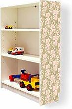 YOURDEA - Klebefolie Möbel IKEA Billy Regal 100x80cm mit Motiv: Ranken Geflecht für die rechte Seitenwand