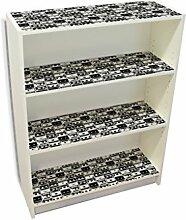 YOURDEA - Klebefolie Möbel IKEA Billy Regal Böden 100x80cm Klebefolie mit Motiv: Bänder inklusive Rakel