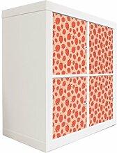 YOURDEA - Möbel Aufkleber Sticker für IKEA Expedit / Kallax Kommode Regal mit Motiv Beeren Muster