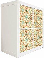 YOURDEA - Möbel Aufkleber Sticker für IKEA Expedit / Kallax Kommode Regal mit Motiv Feuerwerk