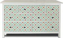 yourdea Möbel-Folie für IKEA HEMNES Kommode 8 Schubladen / Möbel-Aufkleber zum selbst gestalten / Klebe-Sticker mit Motiv Kischblüten