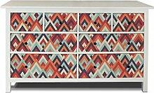 yourdea Möbel-Folie für IKEA HEMNES Kommode 8 Schubladen / Möbel-Aufkleber zum selbst gestalten / Klebe-Sticker mit Motiv Spitze Winkel