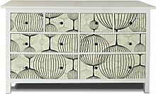 yourdea Möbel-Folie für IKEA HEMNES Kommode 8 Schubladen / Möbel-Aufkleber zum selbst gestalten / Klebe-Sticker mit Motiv Lampions