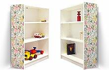 YOURDEA - Möbel Klebefolie für IKEA Billy Regal 100x80cm mit Motiv: Brise für beide Seitenwände