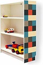 YOURDEA - Möbel Klebefolie für IKEA Billy Regal 100x80cm mit Motiv: Lausanne für die rechte Seitenwand