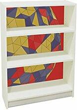 YOURDEA - Möbel Klebefolie für IKEA Billy Regal 100x80cm mit Motiv: Patchwork Ball