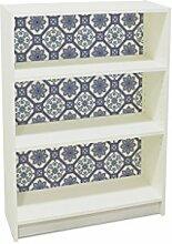 YOURDEA - Möbel Klebefolie für IKEA Billy Regal 100x80cm mit Motiv: Arabesque inklusive Rakel SET