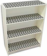 YOURDEA - Möbel Klebefolie für IKEA Billy Regal Böden 100x80cm Sticker mit Motiv: Zick Zack SW