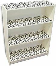 YOURDEA - Möbel Klebefolie für IKEA Billy Regal Böden 100x80cm Sticker mit Motiv: Bucheckern inklusive Rakel SET