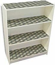 YOURDEA - Möbel Klebefolie für IKEA Billy Regal Böden 100x80cm Sticker mit Motiv: Schraffur inklusive Rakel