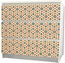 YOURDEA - Möbel Schubfachsticker für IKEA MALM Kommode Möbel Schubfach mit Motiv: Stern und Kubus