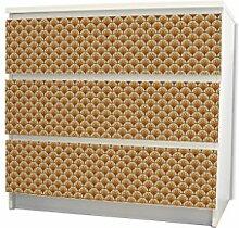 YOURDEA - Möbel Schubfachsticker für IKEA MALM Kommode Möbel Schubfach mit Motiv: Feuerreifen inklusive Rakel SET