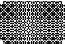 YOURDEA - Möbel Sticker für IKEA Lack Tisch Couchtisch Beistelltisch mit Motiv: Vierblatt inklusive Rakel