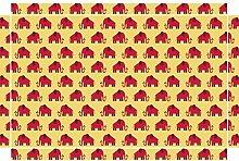 YOURDEA - Möbel Sticker Kinderzimmer für IKEA Lack Couchtisch Beistelltisch mit Motiv: Elephant inklusive Rakel
