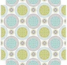 YOURDEA - Möbel Sticker Tattoos für IKEA Lack Tisch Couchtisch Beistelltisch Motiv mit Motiv: Medaillons inklusive Rakel