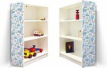 YOURDEA - Möbelaufkleber Kinderzimmer für IKEA Billy Regal 100x80cm mit Motiv: Boote Flugzeuge für beide Seitenwände